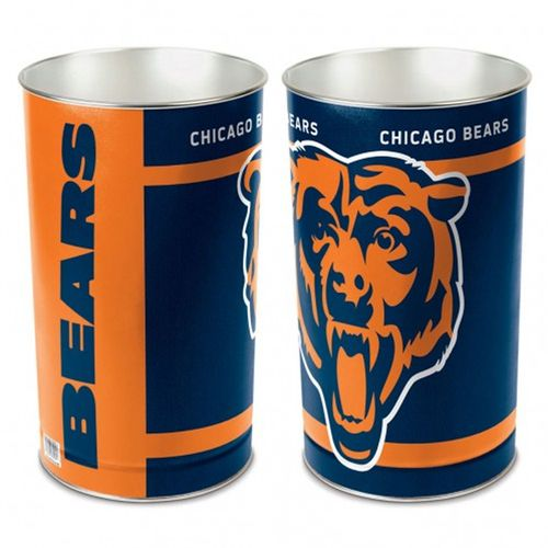 Chicago Bears Tapered Trashcan