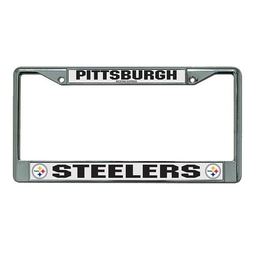 Pittsburgh Steelers Laser Cut Chrome Frame (Silver/White)
