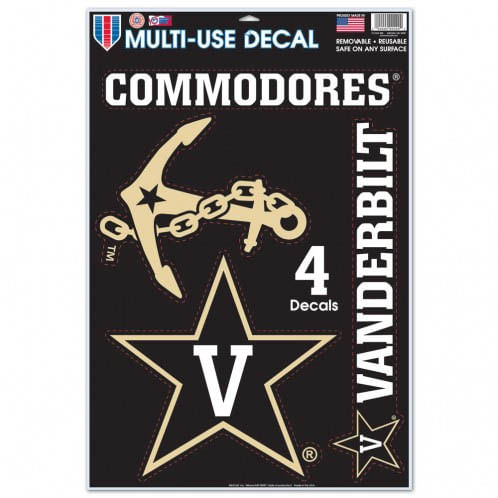 Vanderbilt Commodores 11X17 Multiple Use Decals