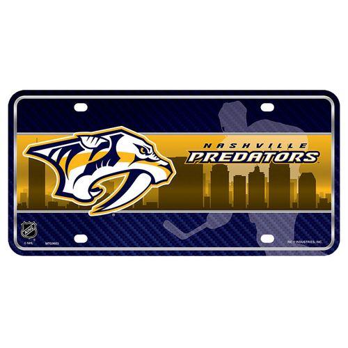 Nashville Predators Metal License Plate