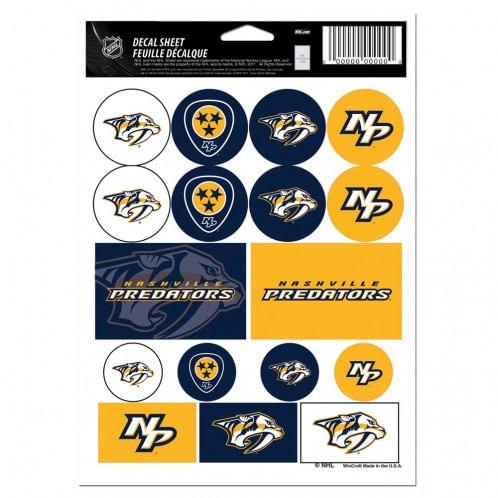Nashville Predators Sticker Sheet