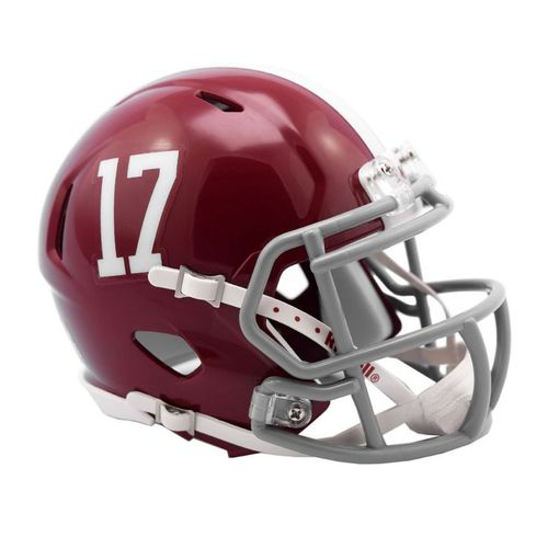 Alabama Crimson Tide 17 Mini Speed Helmet (Crimson)