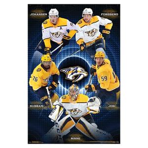 Nashville Predators Team Poster