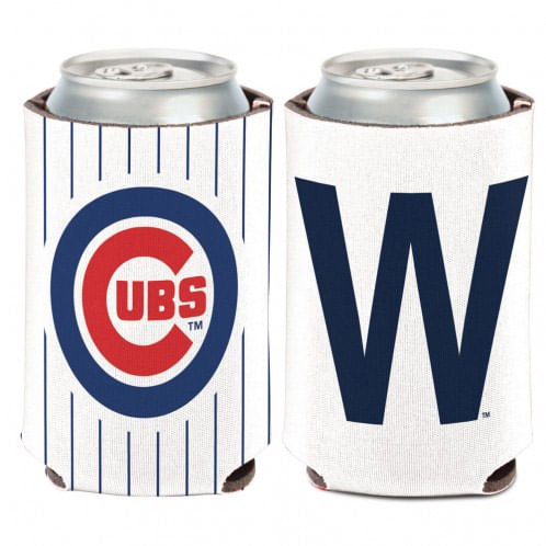 "Chicago Cubs ""W"" Double Sided Can Cooler"