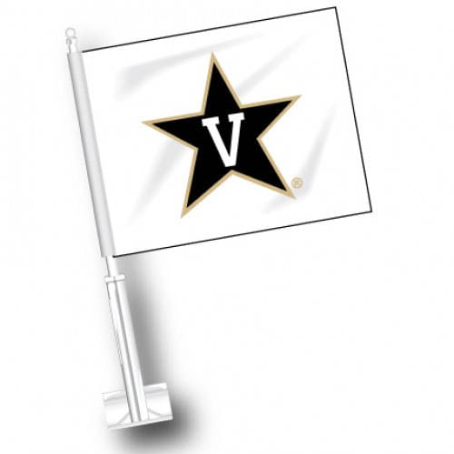 Vanderbilt Commodores Logo Car Flag (White)