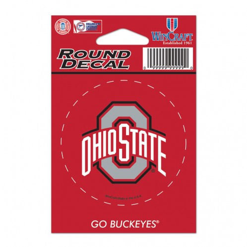 Ohio State Buckeyes Round Vinyl Decal