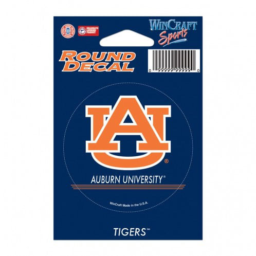 Auburn Tigers Round Vinyl Decal