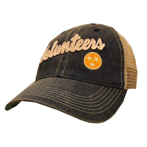 Legacy Tennessee Volunteers Script Old Favorite Trucker Adjustable Hat (Navy/Mesh)