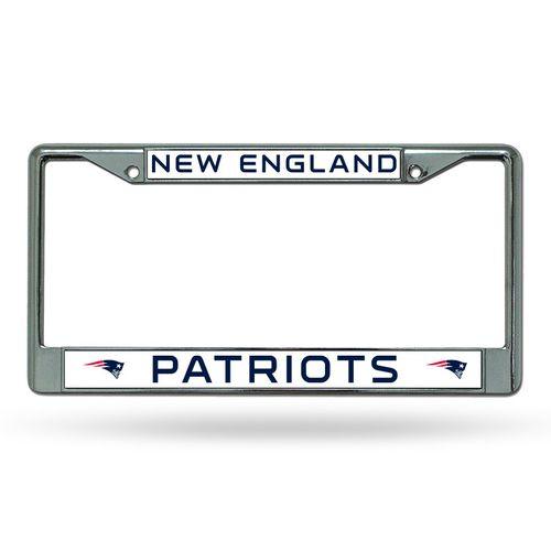 New England Patriots Laser Chrome License Plate Frame (Chrome)