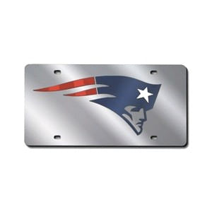 New England Patriots Laser-Cut Logo License Plate