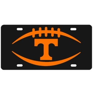 "Tennessee Volunteers ""T"" Football License Plate"