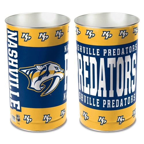 Nashville Predators Logo Tapered Trashcan (Navy/Gold)