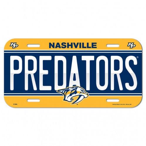 Nashville Predators Plastic License Plate