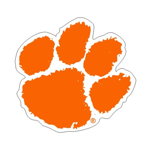 "Clemson Tigers 4"" Logo Decal"
