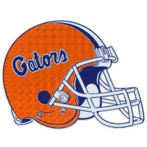 Florida Gators Reflective Helmet Sticker