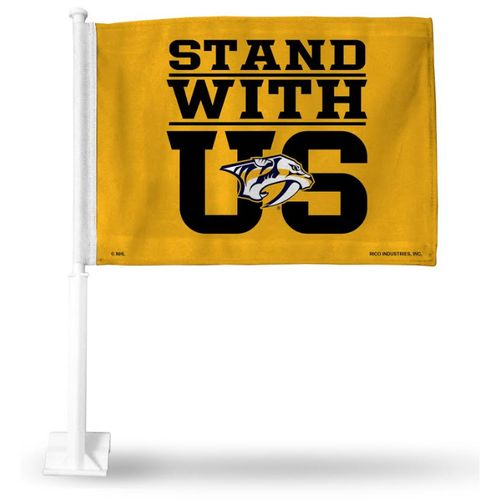 Nashville Predators Stand with Us Car Flag (Gold)
