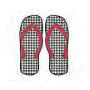 Alabama Crimson Tide Flip Flop Decal (Houndstooth)