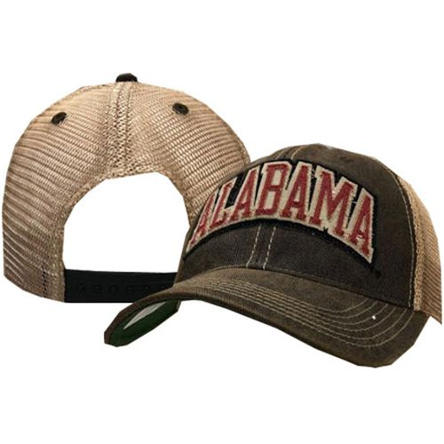 Legacy Alabama Crimson Tide Arch Trucker Adjustable Hat (Black/Crimson/Mesh)