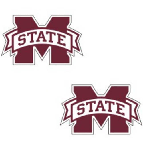 Mississippi State Bulldogs 2 Pack of decals