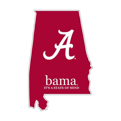 "Alabama Crimson Tide ""16"" State Decal"