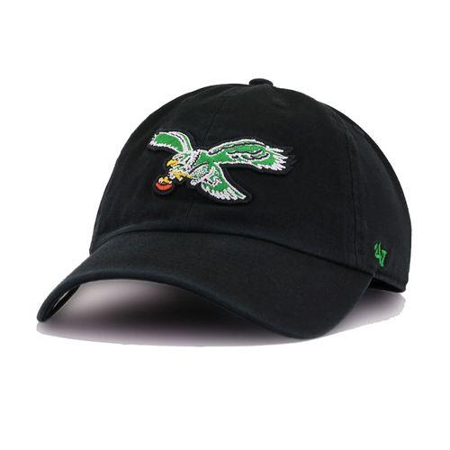 '47 Brand Philadelphia Eagles Clean Up Adjustable Hat (Black)