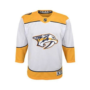 Kid's Nashville Predators Premier Road Jersey (White)