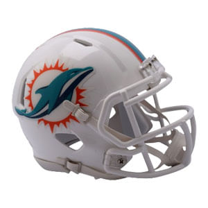 Miami Dolphins Mini Speed Helmet (White)