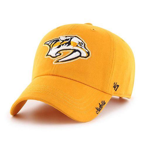 '47 Brand Women's Nashville Predators Miata 37 Adjustable Clean Up Hat (Gold)