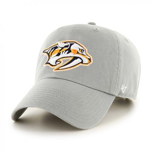 '47 Brand Nashville Predators Logo Adjustable Clean Up Hat (Grey)