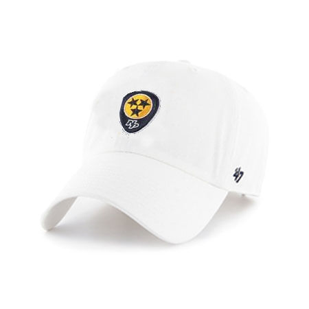 '47 Brand Nashville Predators Guitar Pick Adjustable Clean Up Hat (White)