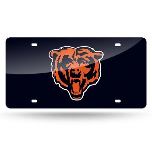 Chicago Bears Logo Laser-Cut License Plate