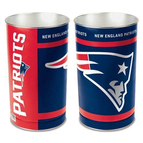 New England Patriots Logo Tapered Trashcan