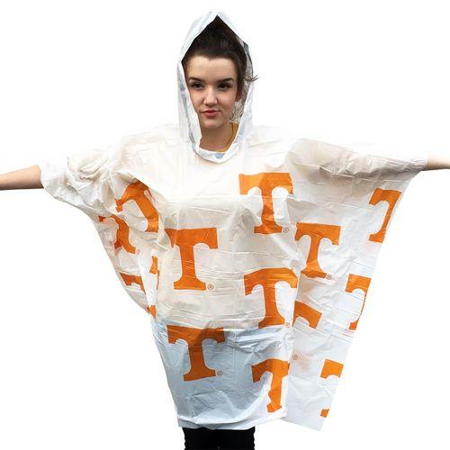 Tennessee Volunteers Rain Poncho (White)