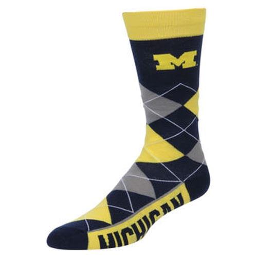 Michigan Wolverines Argyle Sock