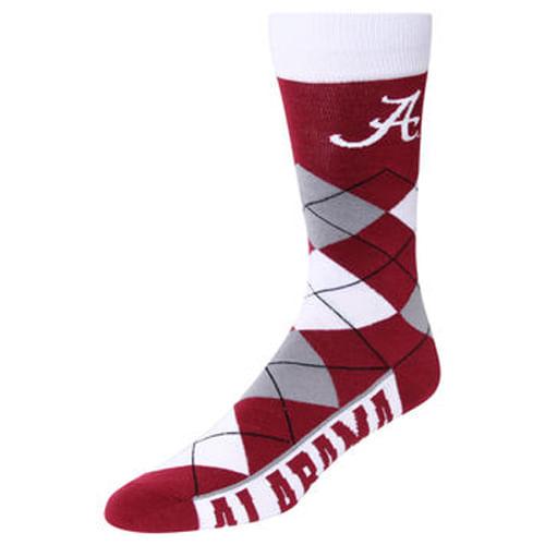 Alabama Crimson Tide Argyle Sock