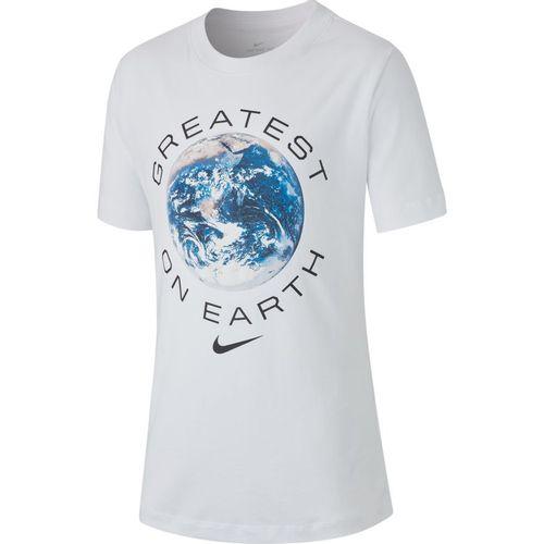 Boy's Nike Greatest on Earth Short Sleeve T-Shirt (White)