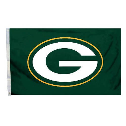 Green Bay Packers Logo Flag