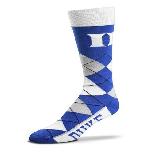 Duke Blue Devils Argyle Sock (Royal/White)