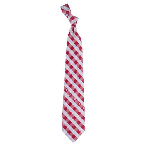 Alabama Crimson Woven Check Tie