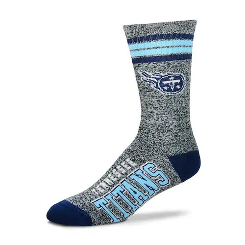 Tennessee Titans Marbled 4 Stripe Deuce Sock