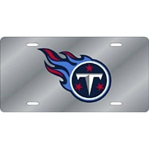 Tennessee Titans Logo Laser-Cut License Plate