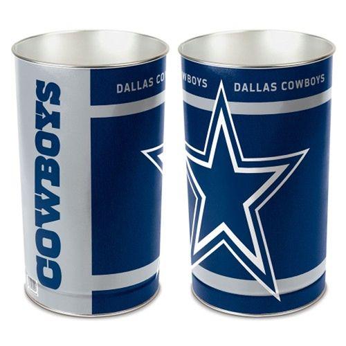 Dallas Cowboys Tapered Trashcan
