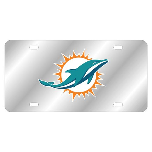 Miami Dolphins Logo Laser-Cut Acrylic License Plate