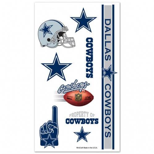 Dallas Cowboys Pack of Temporary Tattoos