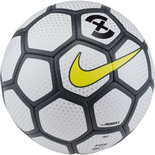 Nike Premier X Futsal Soccer Ball (White/Anthracite/Opti Yellow)
