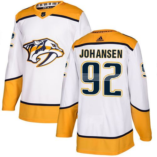 Men's Adidas Nashville Predators Ryan Johansen Authentic Pro Road Jersey (White)