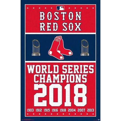 Boston Red Sox Champions Dates Poster