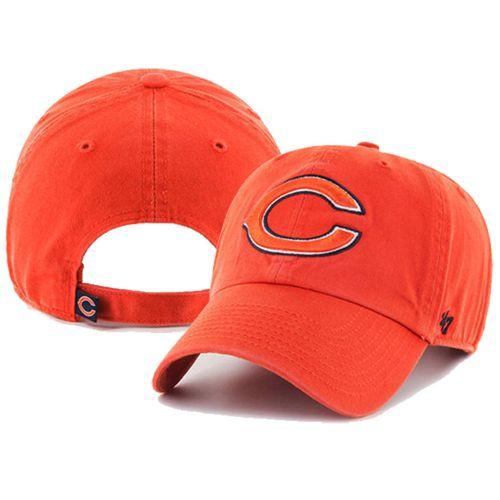'47 Brand Chicago Bears Clean Up Adjustable Hat (Orange)