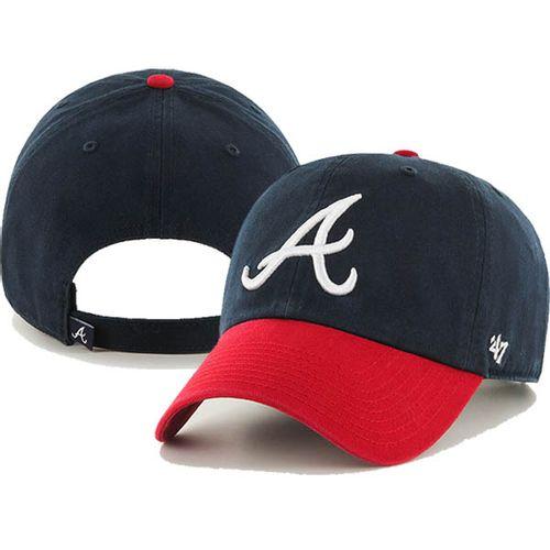 '47 Brand Atlanta Braves Clean Up Hat (Navy/Red)