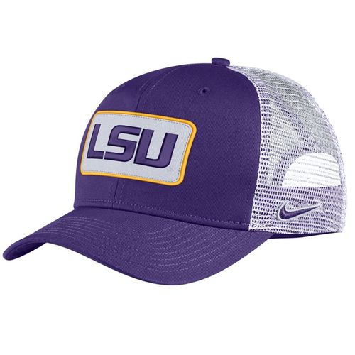 Nike LSU Tigers Classic99 Trucker Adjustable Hat (Purple)